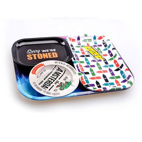Tobacco Raw Tin Square Rolling Tray