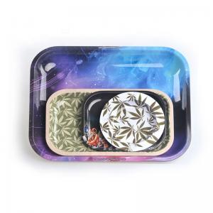 Tobacco Raw Tin Square Rolling Tray - SafeCare