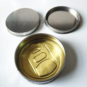 Custom Ring Pull Round Tins Wing Style Opening Metal Tins - SafeCare