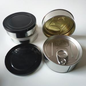 100ml Aluminium Cosmetic Pot Jar Tin Box with easy pull Lid - SafeCare