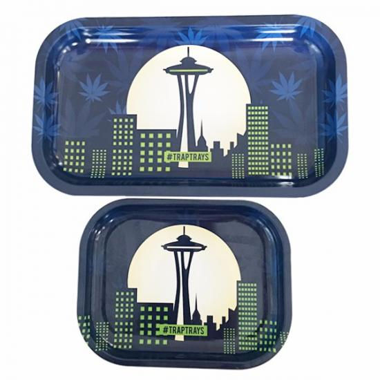 Raw Custom Rolling Tray Metal Tobacco Weed Tin Tray