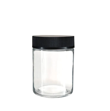 CR Flat Cap Flower Glass Jar