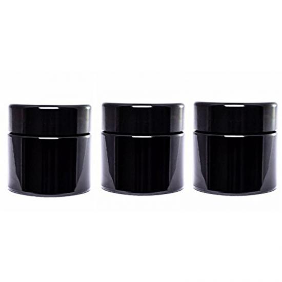 Black Ultra violet Glass Screw Top Jar