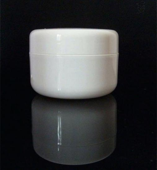 White Round Glass Jar with Child Resistant Lid