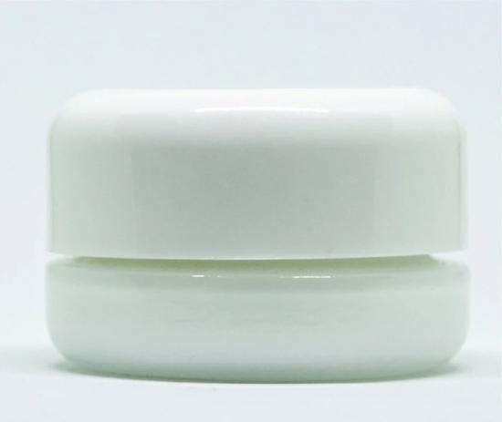 white glass jar