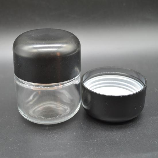 Smell proof thick wall empty round CR glass packaging