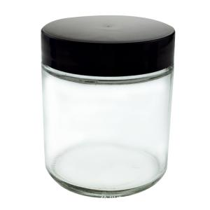 glass jar 60ml wooden lid clear glass jars with child resistant cap - SafeCare