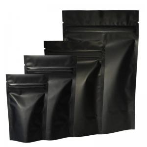 Matt Black Stand Up Ziplock Pouch Bag 3.5 Grams Weed Packaging Mylar Foil Bags - SafeCare