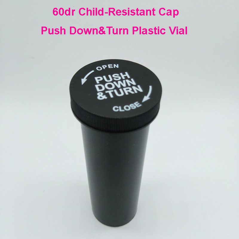 60drams CRC Plastic push down and turn vials Medication Bottles