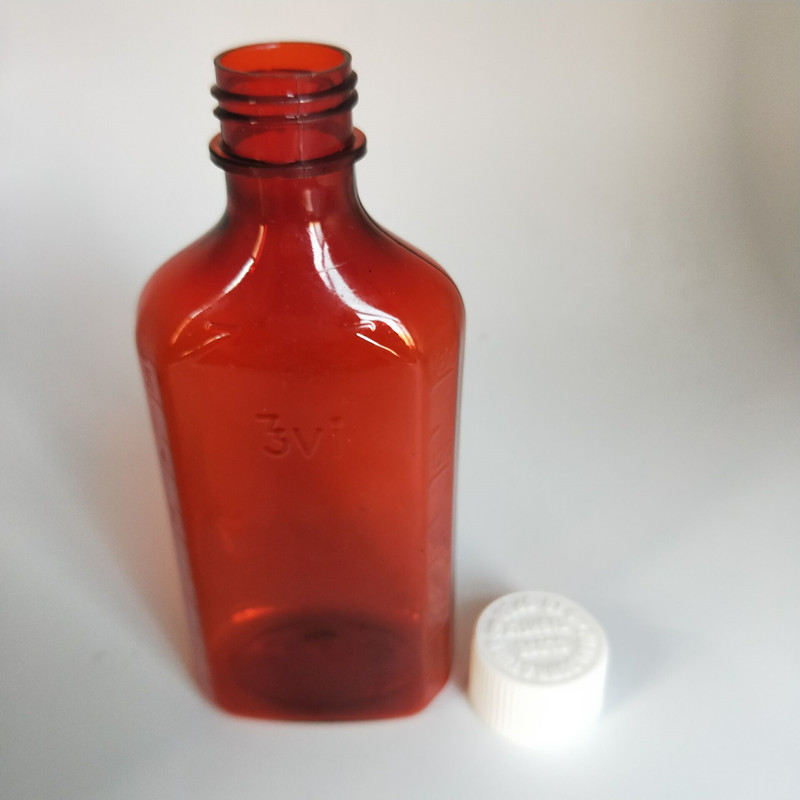 8OZ 240ml CR Cap PET Plasitc liquid oval syrup Bottles