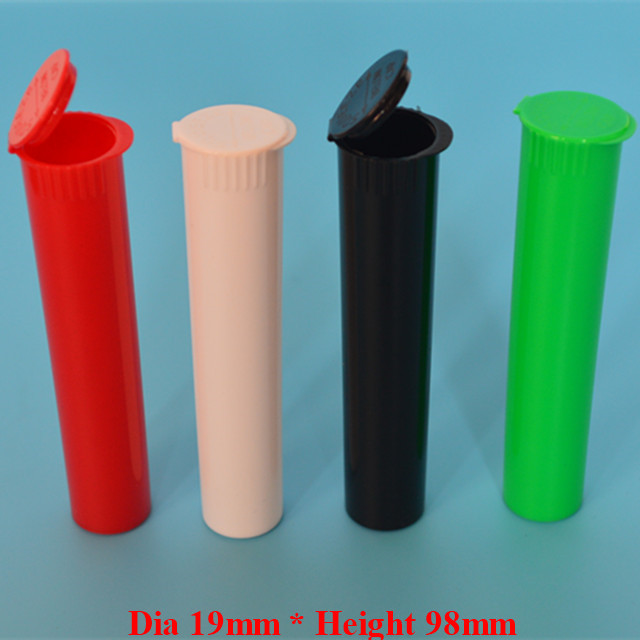 95mm 98mm Pre Roll Squeeze Top Lid blunt Joint Tube